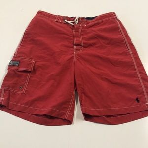 RALPH LAUREN POLO Mens Small Red Bathing Suit